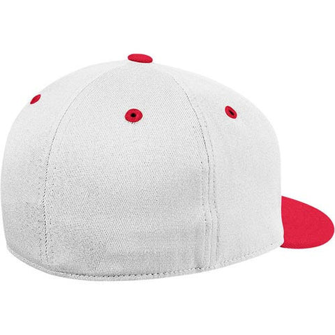 "NC State Wolfpack White adidas® 2013 ""On-Field"" Baseball Performance Fitted Flatbill Hat"
