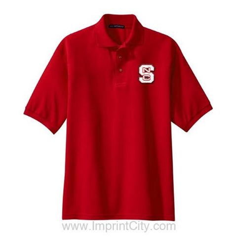 NC State Wolfpack Red Tall Silk Touch Polo