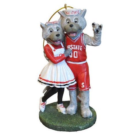 NC State Wolfpack Mr. & Mrs. Wuf Cake Topper/Ornament
