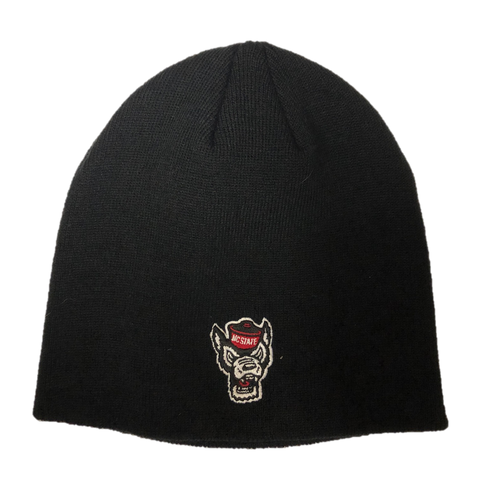 NC State Wolfpack TOW Black Classic Wolfhead Uncuffed Beanie