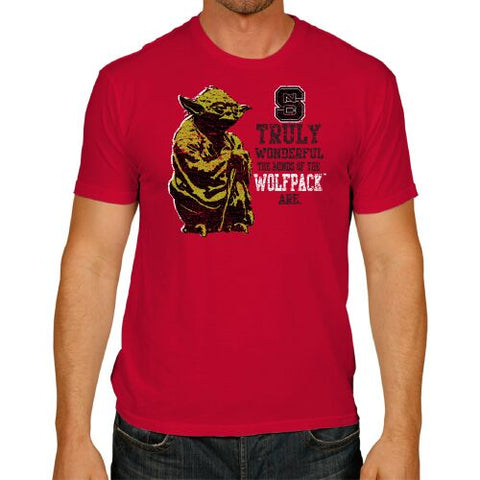 NC State Wolfpack Red Star Wars Yoda Wolfpack Minds T-Shirt