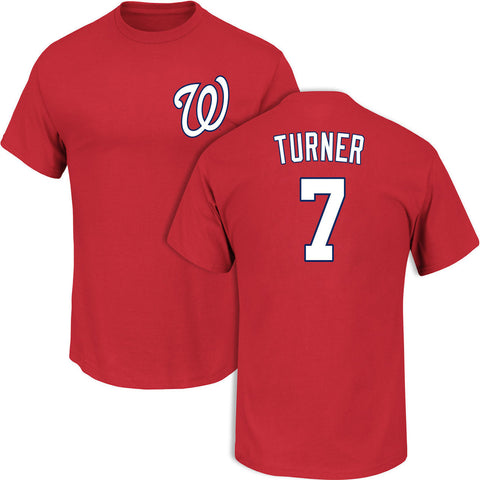 Washington Nationals Trea Turner #7 Red T-Shirt
