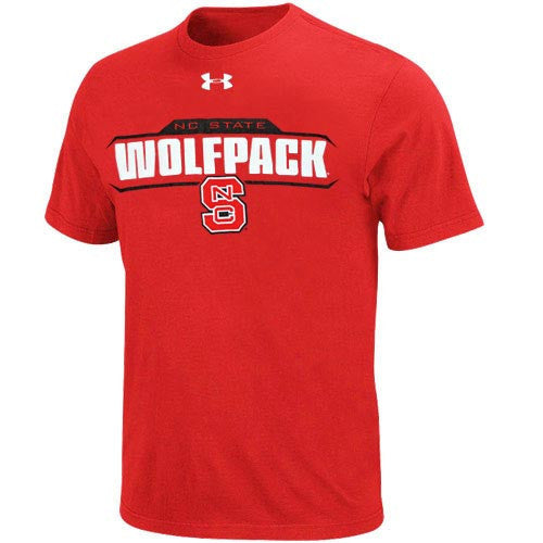 NC State Wolfpack Youth Red UA NuTech T-Shirt