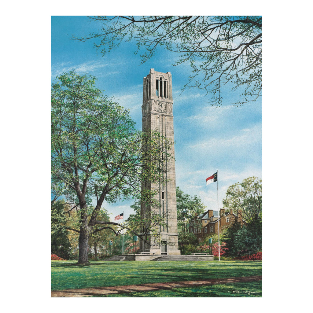 "NC State Wolfpack 18""x24"" Memorial Bell Tower 550pc Puzzle"