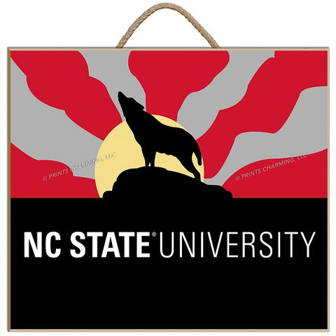 NC State Wolfpack 11.5x9 Howling Wolf Matted Print