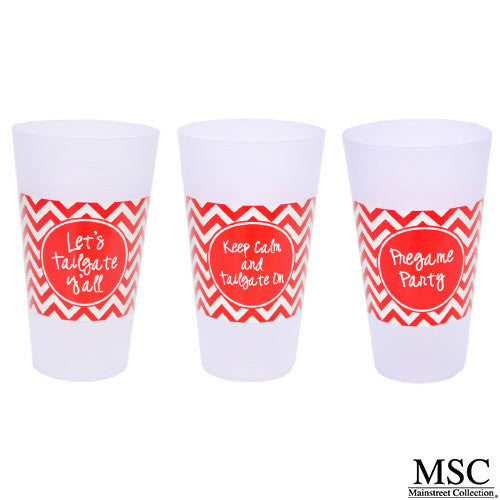NC State Wolfpack Chevron Tailgate Party Cups - 6pk