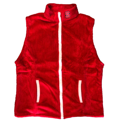 NC State Wolfpack Women's Red Phoebe Plush Vest