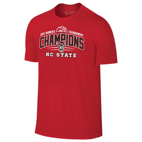 NC State Wolfpack 2021 ACC Women's Basketball Tournament Champions T-Shirt