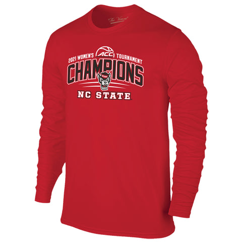 NC State Wolfpack 2021 ACC Women's Basketball Tournament Champions Long Sleeve T-Shirt