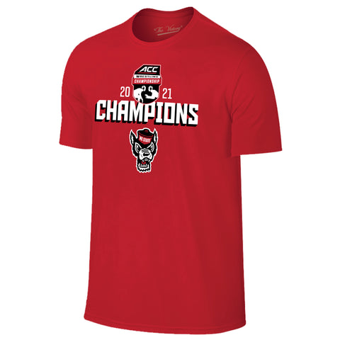 NC State Wolfpack 2021 ACC Tournament Wrestling Champions T-Shirt