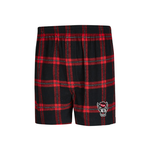 NC State Wolfpack Men's Homestretch Flannel Boxers