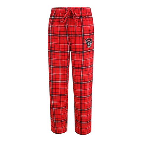 NC State Wolfpack Men's Ultimate Plaid Wolfhead Flannel Pants