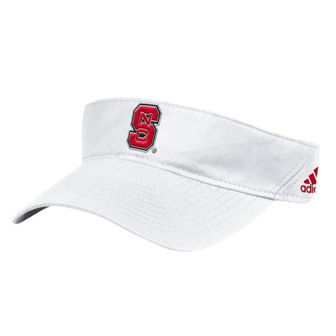 NC State Wolfpack Adidas 2017 White Sideline Coaches Adjustable Visor