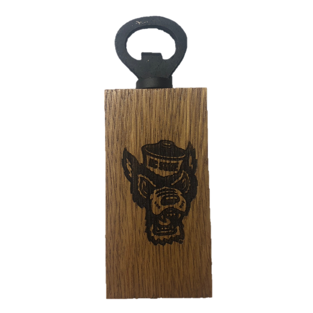 NC State Wolfpack Authentic Barrel Wolfhead Mini Bottle Opener
