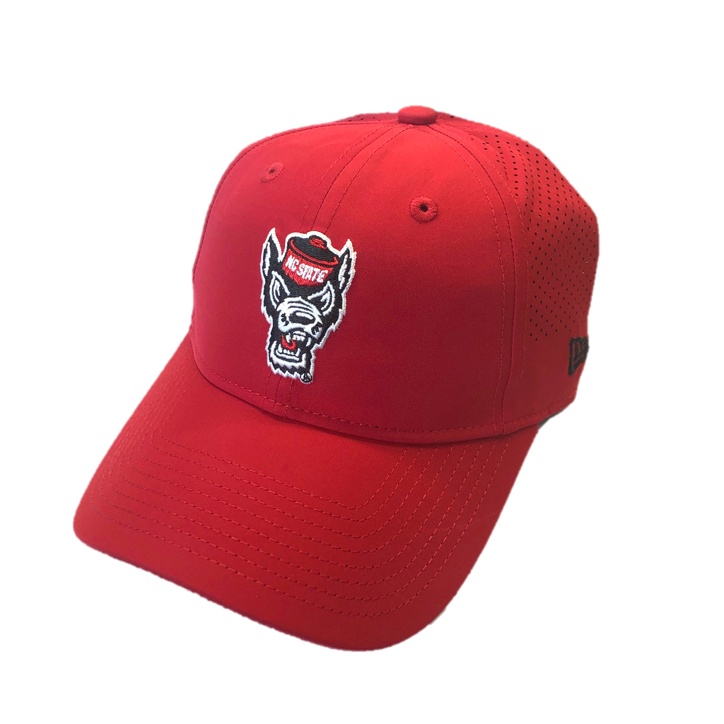 NC State Wolfpack New Era Women's Red Wolfhead Adjustable Hat