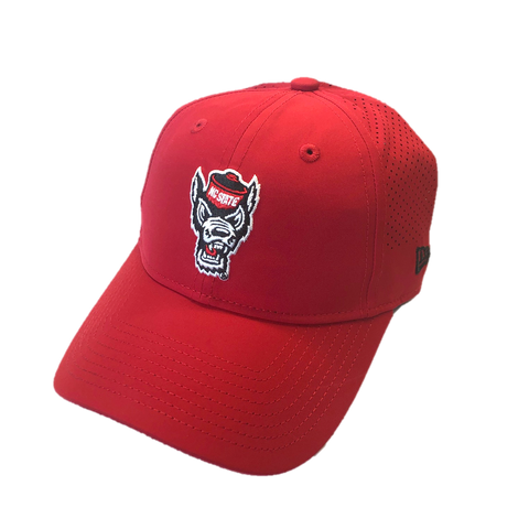 NC State Wolfpack New Era Youth Red Wolfhead Adjustable Hat