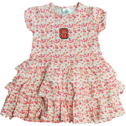 NC State Wolfpack Toddler Watercolor Dress