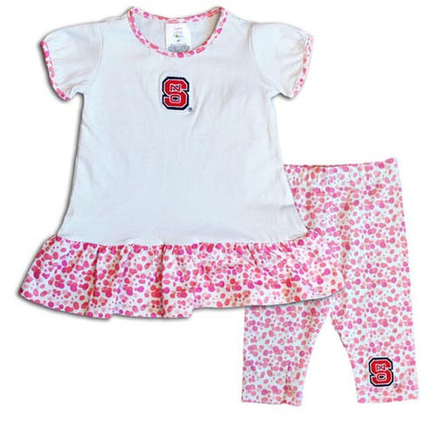 NC State Wolfpack Toddler Watercolor Top and Capri Set