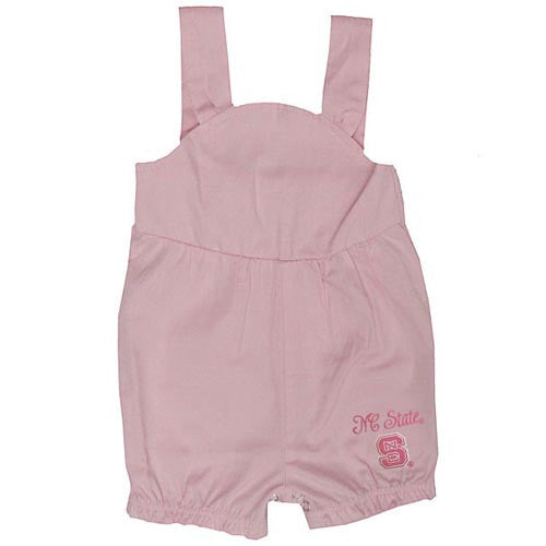 NC State Wolfpack Infant Pink Chambray Romper