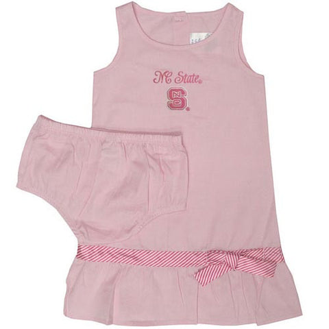 NC State Wolfpack Toddler Pink Chambray Dress
