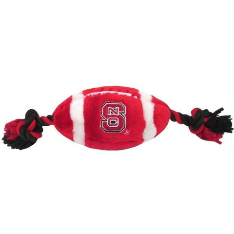 NC State Wolfpack Red Football Dog Toy