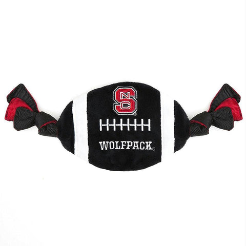 NC State Wolfpack Flatty Football Dog Toy