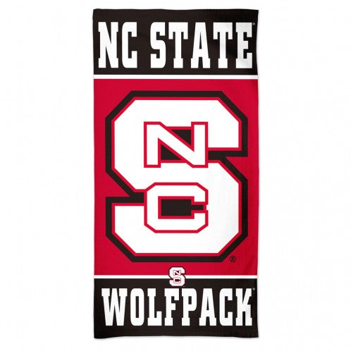 "NC State Wolfpack 30""x60"" Block S Beach Towel"