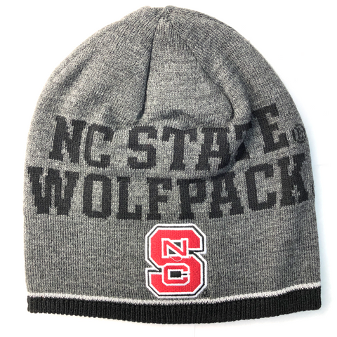 NC State Wolfpack Adidas Youth Grey Player Beanie