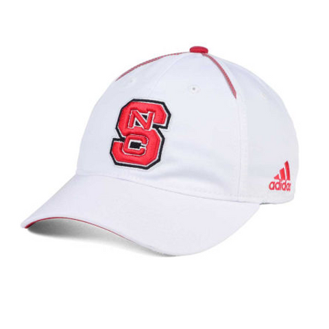 NC State Wolfpack Adidas 2017 White Spring Game Adjustable Slouch Hat