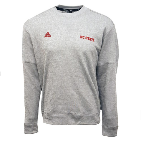 NC State Wolfpack Adidas Grey NC State Crewneck