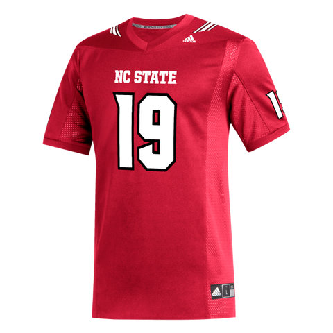 NC State Wolfpack Adidas Red 2019 #19 Replica Football Jersey