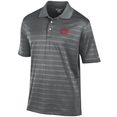 NC State Wolfpack Champion Titanium Textured Solid Polo