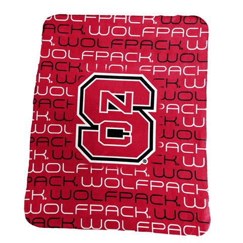 NC State Wolfpack All Over Classic Fleece Blanket