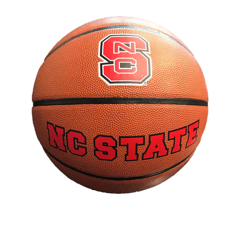 NC State Wolfpack All Red Deluxe Rubber Official Size Basketball