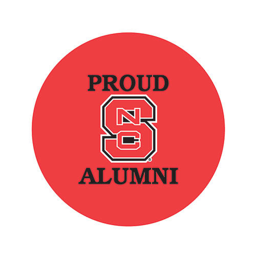 NC State Wolfpack Proud Alumni Fabric Button