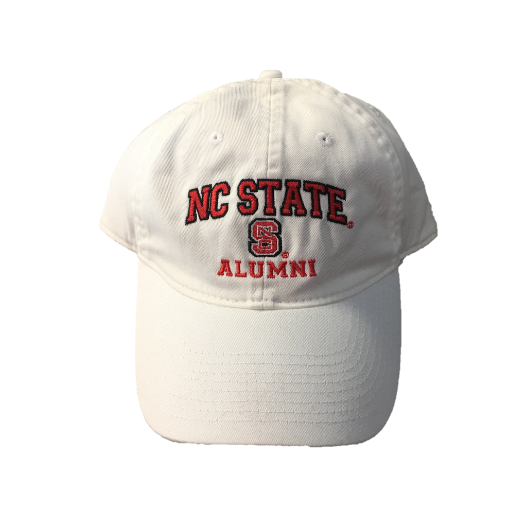 NC State Wolfpack Alumni White Relaxed Fit Adjustable Hat
