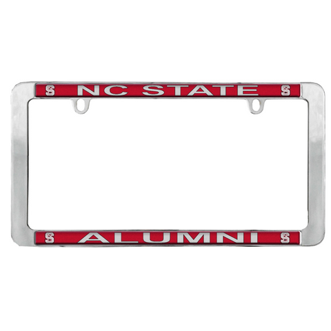 NC State Wolfpack Metal Thin Rimmed Alumni License Frame