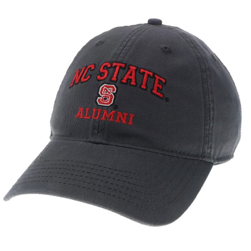 NC State Wolfpack Alumni Dark Grey Relaxed Fit Adjustable Hat