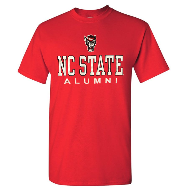 NC State Wolfpack Red NC State Alumni Wolfhead T-Shirt