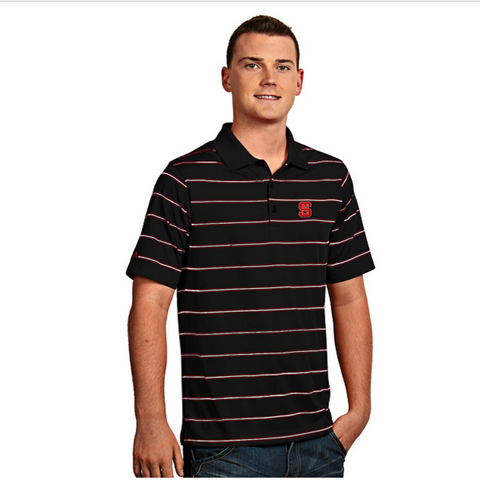 NC State Wolfpack Antigua Black Deluxe Golf Shirt