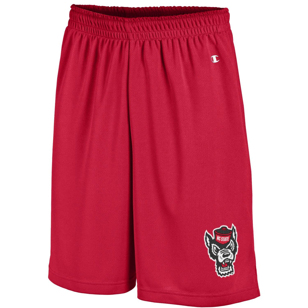 NC State Wolfpack Champion Red Wolfhead Mesh Shorts