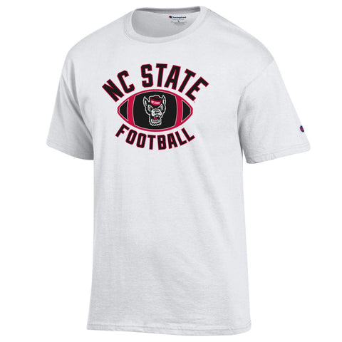 NC State Wolfpack Champion White Football T-Shirt