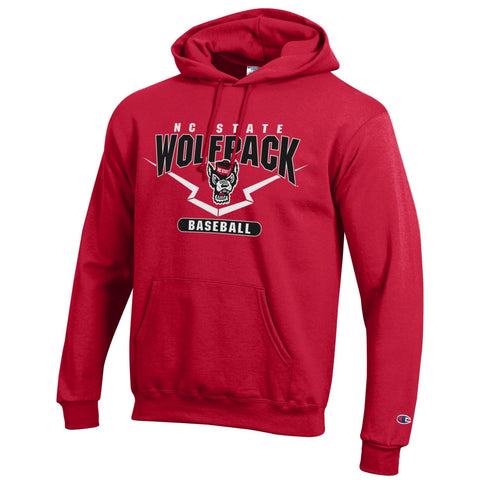 NC State Wolfpack Champion Red Baseball Hooded Sweatshirt