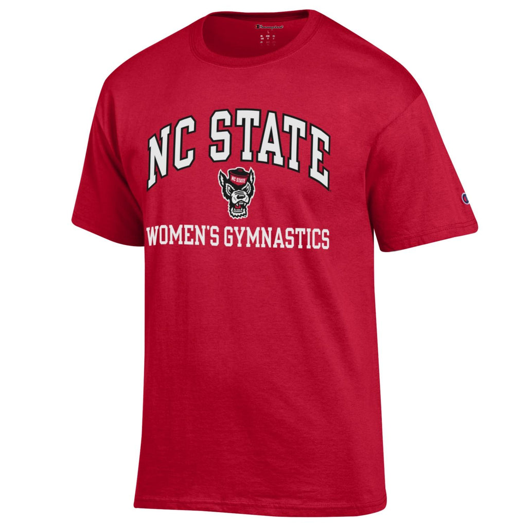 NC State Wolfpack Champion Youth Red Women's Gymnastics T-Shirt