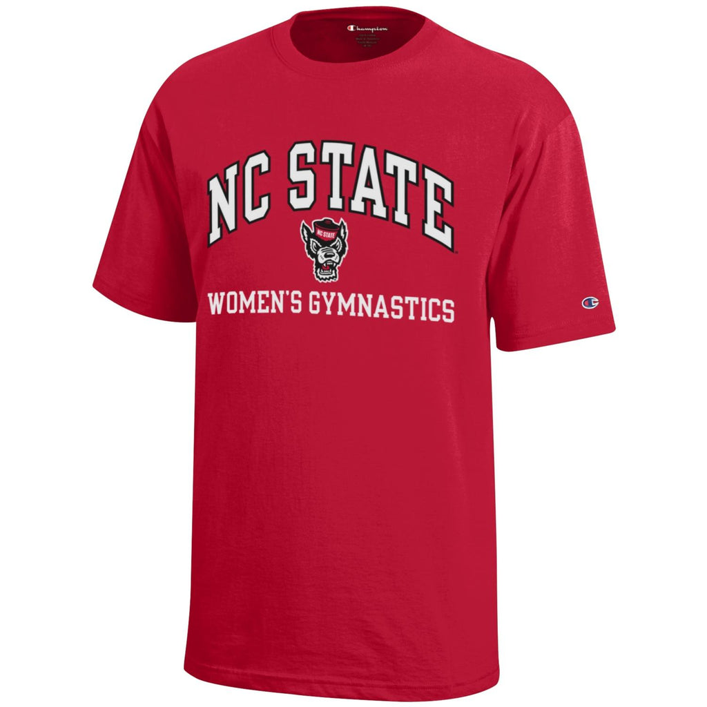 NC State Wolfpack Champion Red Women's Gymnastics T-Shirt