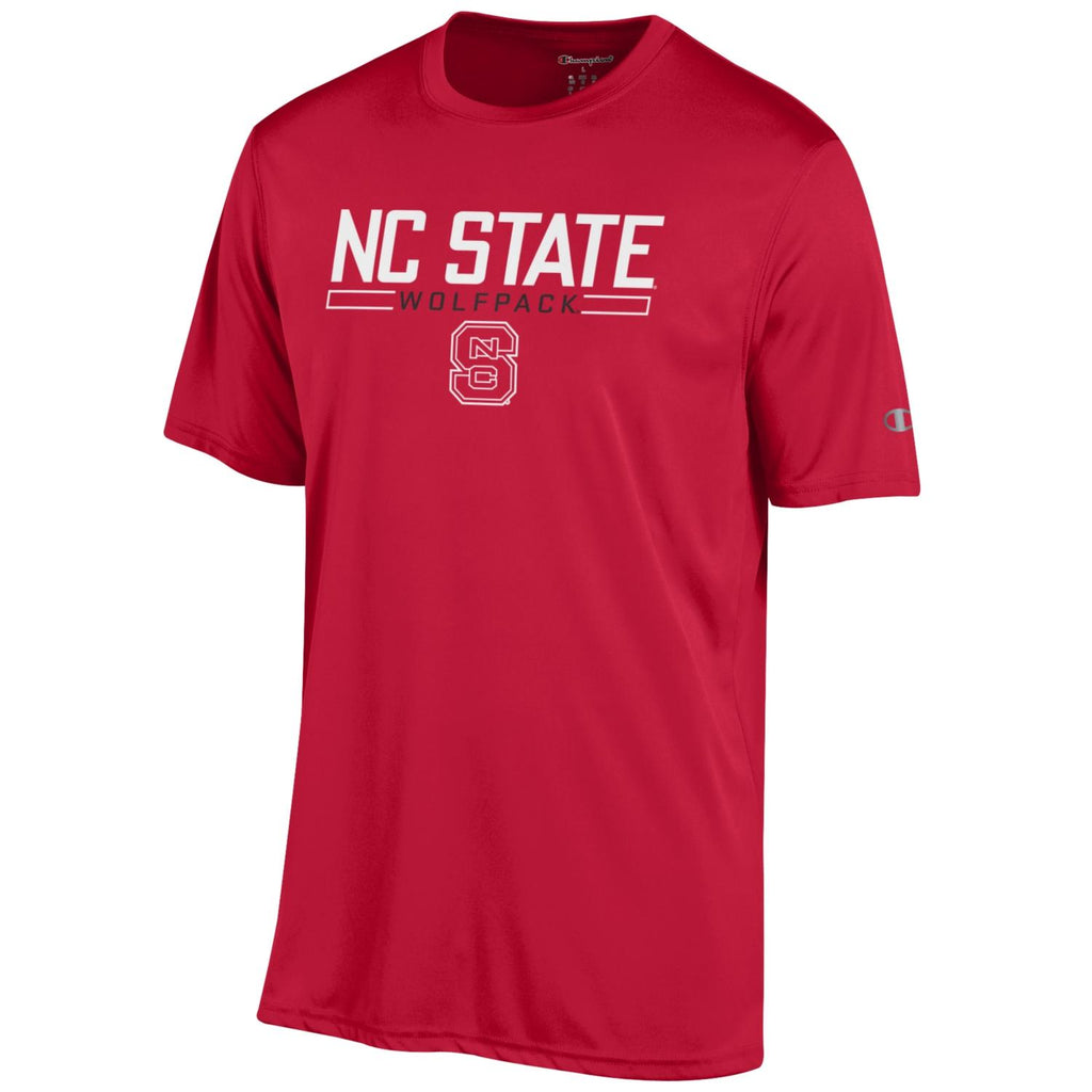 NC State Wolfpack Champion Youth Red Block S Split Box Performance T-Shirt