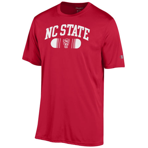 NC State Wolfpack Champion Red Arched Wolfhead Performance T-Shirt