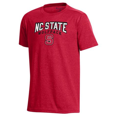 NC State Wolfpack Champion Youth Heather Red Field Day T-Shirt