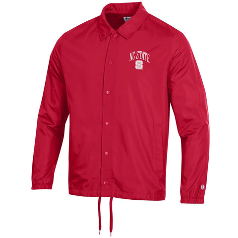 NC State Wolfpack Men's Red Arched NC State Block S Button Down Jacket