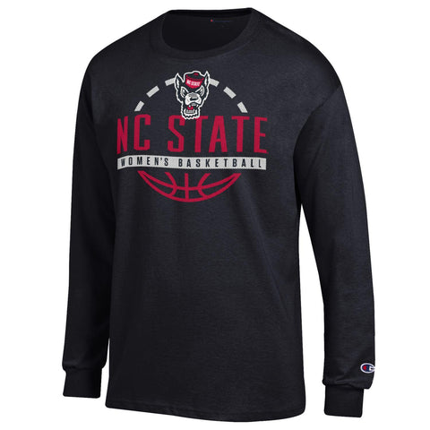 NC State Wolfpack Champion Black Wolfhead Women's Basketball Long Sleeve T-Shirt